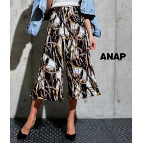 【セール開催中】ANAP(アナップ)チェーン柄プリーツワイドパンツ