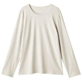 【レディース】 型崩れしにくいSZTシャツ 長袖 - セシール ■カラー:ナチュラル(杢) ■サイズ:L,M,LL,3L