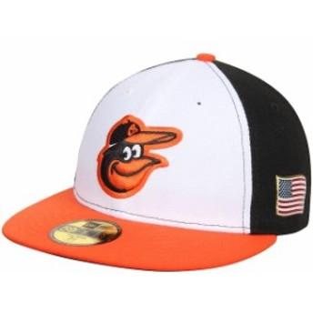 New Era ニュー エラ スポーツ用品 New Era Baltimore Orioles White/Black Authentic Collection On-Field US Flag 59FIFTY