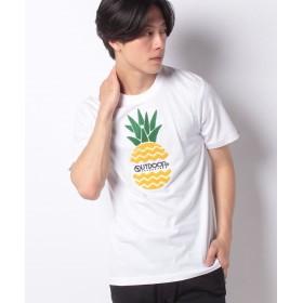 スペンディーズストア OUTDOOR PRODUCTSパイン柄サガラ刺繍Tシャツ メンズ ホワイト LL 【SPENDY'S Store】