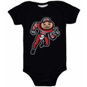 Two Feet Ahead トゥー フィート アヘッド スポーツ用品 Ohio State Buckeyes Infant Black Big Logo Bodysuit