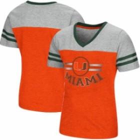 Colosseum コロセウム スポーツ用品  Colosseum Miami Hurricanes Girls Youth Orange/Heathered Gray Pee Wee Football V-Ne