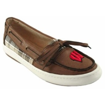 Renaissance ルネサンス スポーツ用品 Wisconsin Badgers Womens Brown Westend One Eye Moccasins