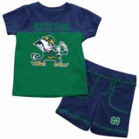 Colosseum コロセウム スポーツ用品  Colosseum Notre Dame Fighting Irish Infant Green/Navy Giddy Up T-Shirt & Shorts Tw