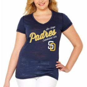 Soft as a Grape ソフト アズ ア グレープ スポーツ用品  Soft As A Grape San Diego Padres Womens Navy Plus Size Fas