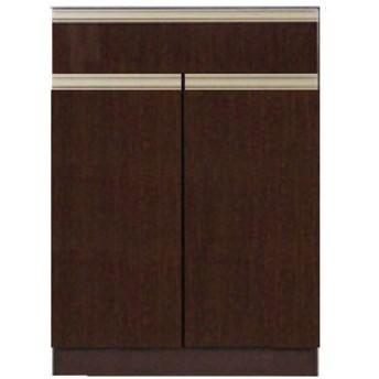 高機能 モダンシックキッチン キッチンカウンター 幅60奥行45高さ85cmダークブラウン