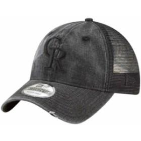 New Era ニュー エラ スポーツ用品  New Era Colorado Rockies Black Tonal Washed 9TWENTY Adjustable Hat