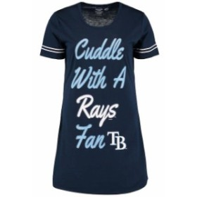 Concepts Sport コンセプト スポーツ 寝間着  Concepts Sport Tampa Bay Rays Womens Navy Tradition Nightshirt
