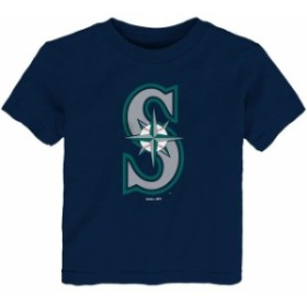Outerstuff アウタースタッフ スポーツ用品  Seattle Mariners Toddler Navy Team Primary Logo T-Shirt