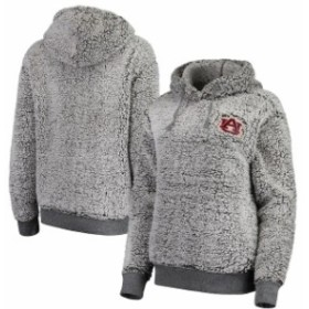 f1d01ef50706c Boxercraft ボクサークラフト スポーツ用品 Auburn Tigers Womens Heathered Gray Sherpa  Inside & Out Pullover Hoodie