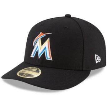 New Era ニュー エラ スポーツ用品 New Era Miami Marlins Black Home Cap Authentic Collection On-Field Low Profile 59FI