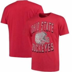 4th and 1 フォース アンド ワン スポーツ用品  Ohio State Buckeyes Scarlet Helmet Vintage Staple T-Shirt