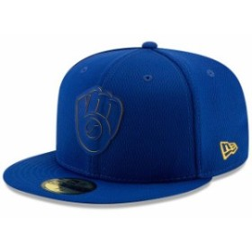 New Era ニュー エラ スポーツ用品  New Era Milwaukee Brewers Royal 2019 Clubhouse Collection 59FIFTY Fitted Hat