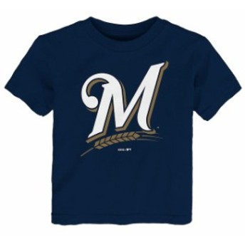 Outerstuff アウタースタッフ スポーツ用品 Milwaukee Brewers Toddler Navy Primary Logo T-Shirt