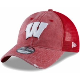 New Era ニュー エラ スポーツ用品  New Era Wisconsin Badgers Red Tonal Washed Trucker 2 9TWENTY Snapback Hat