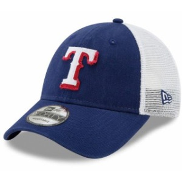 online store f6449 57663 New Era ニュー エラ スポーツ用品 New Era Texas Rangers Royal White Team Truckered  9FORTY