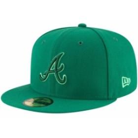 New Era ニュー エラ スポーツ用品  New Era Atlanta Braves Green 59FIFTY League Pop Fitted Hat