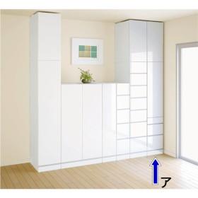 マンションの梁(ハリ)も考慮した壁面ワードローブシリーズ ブレザー 幅39cm高さ180cmホワイトミギヒラキ