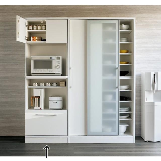 Fons フォンス キッチン収納 レンジボード 幅70cm ホワイト