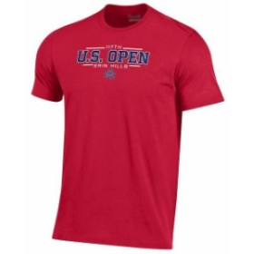 Under Armour アンダー アーマー スポーツ用品  Mens 2017 U.S. Open Under Armour Red Charged Cotton T-Shirt