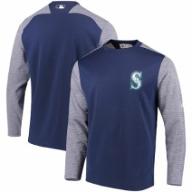 Majestic マジェスティック 服 スウェット Majestic Seattle Mariners Navy Authentic Collection On-Field Tech Fleece P