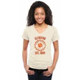 Fanatics Branded ファナティクス ブランド スポーツ用品  Clemson Tigers Womens Old-School Seal Tri-Blend V-Neck T