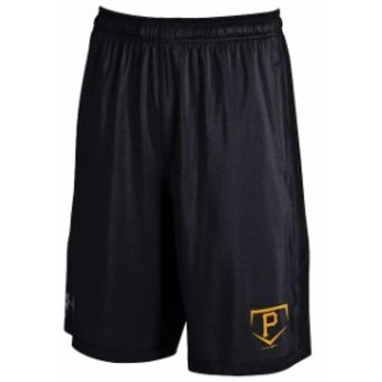 Under Armour アンダー アーマー スポーツ用品  Under Armour Pittsburgh Pirates Raid Solid Performance Black Shorts