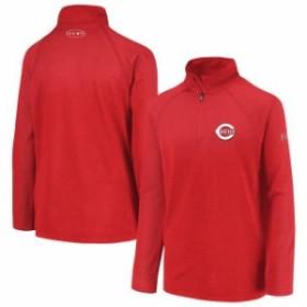 Under Armour アンダー アーマー スポーツ用品  Under Armour Cincinnati Reds Youth Red LC Logo Quarter-Zip Pullover J