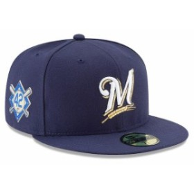 New Era ニュー エラ スポーツ用品  New Era Milwaukee Brewers Blue 2018 Jackie Robinson Day 59FIFTY Fitted Hat