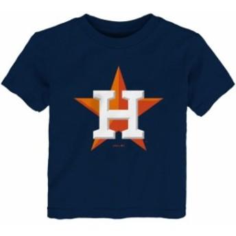 Outerstuff アウタースタッフ スポーツ用品 Houston Astros Toddler Navy Team Primary Logo T-Shirt