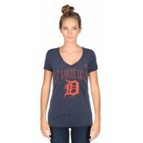 Under Armour アンダー アーマー スポーツ用品  Under Armour Detroit Tigers Womens Navy Tri-Blend V-Neck Performance