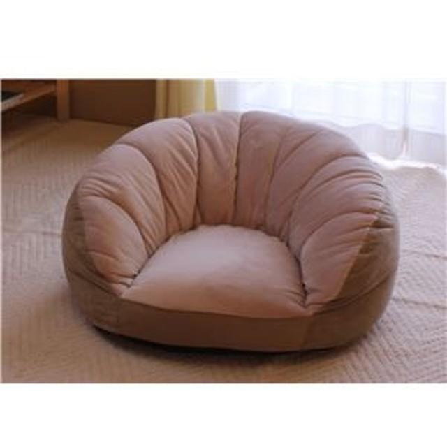 シングルソファー/座椅子 【ベージュ】 1人掛け コンパクトスタイル