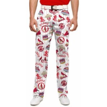 Loudmouth ラウドマウス スポーツ用品 Loudmouth St. Louis Cardinals White/Red Retro StretchTech Pants
