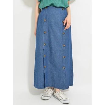 ・RAY CASSIN デニムダブルボタンスカート