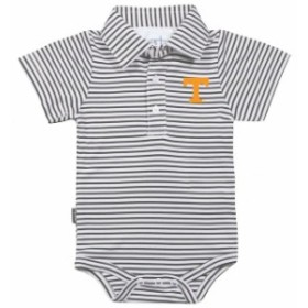 Garb ガード スポーツ用品  Garb Tennessee Volunteers Infant Charcoal/White Carson Striped Short Sleeve Bodysuit