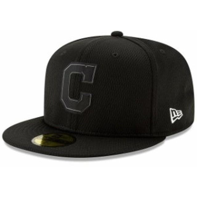 New Era ニュー エラ スポーツ用品  New Era Cleveland Indians Black Clubhouse Collection 59FIFTY Fitted Hat