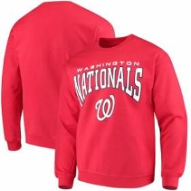Stitches スティッチ 服 スウェット Stitches Washington Nationals Red Pullover Crew Sweatshirt