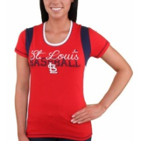 Majestic マジェスティック スポーツ用品  Majestic St. Louis Cardinals Womens Red Pride Playing T-Shirt
