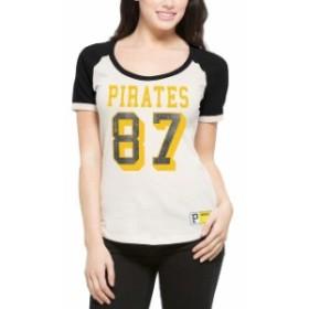 47 フォーティーセブン スポーツ用品  47 Pittsburgh Pirates Womens Cream Triple Play Scoop T-Shirt