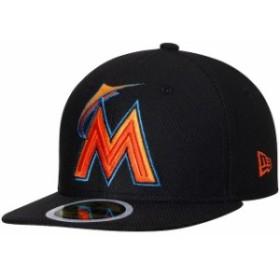 New Era ニュー エラ スポーツ用品  New Era Miami Marlins Youth Black Diamond Era 59FIFTY Fitted Hat