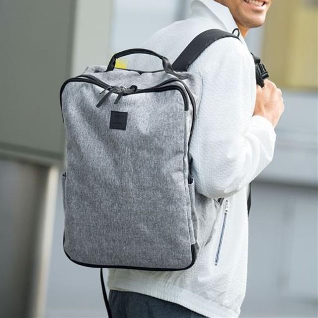 サコッシュバッグ付き多機能リュック(アネロ)(AT-C2241) - セシール ■カラー:グレー