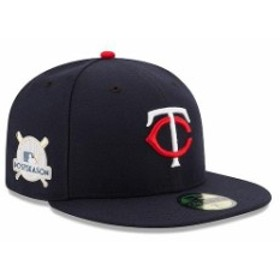 New Era ニュー エラ スポーツ用品  New Era Minnesota Twins Navy 2017 Postseason Side Patch 59FIFTY Fitted Hat