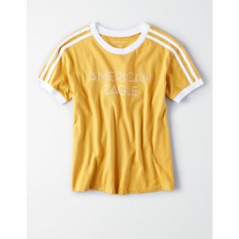 【アメリカンイーグル】AEショルダーライングラフィックTシャツ