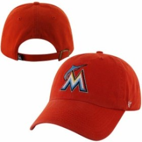 newest 95726 99026 47 フォーティーセブン スポーツ用品 47 Miami Marlins Orange Basic Logo Clean Up Game  Adjustable