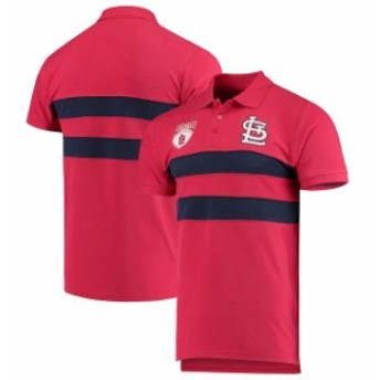Forever Collectibles フォーエバー コレクティブル シャツ ポロシャツ St. Louis Cardinals Red Horizontal 2-Str