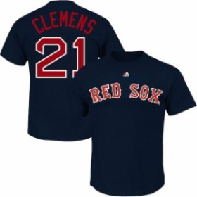 Majestic マジェスティック スポーツ用品  Majestic Roger Clemens Boston Red Sox Navy Big & Tall Cooperstown Name & N