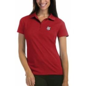 Antigua アンティグア スポーツ用品  Antigua Iowa Speedway Womens Red Logo Pique Desert Dry Xtra Lite Polo