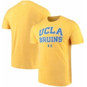 Under Armour アンダー アーマー スポーツ用品  Under Armour UCLA Bruins Gold Arched Throwback Logo Tri-Blend T-Shirt