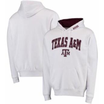 Stadium Athletic スタジアム アスレティック スポーツ用品  Texas A&M Aggies White Arch & Logo Pullover Hoodie