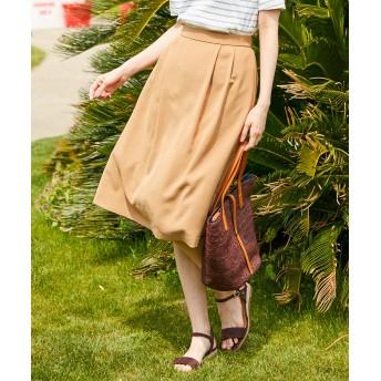 【オンワード】 J.PRESS LADIES S(ジェイ・プレス レディス 小さいサイズ) 【洗える】パウダーポリ スカート キャメル P5 レディース 【送料無料】